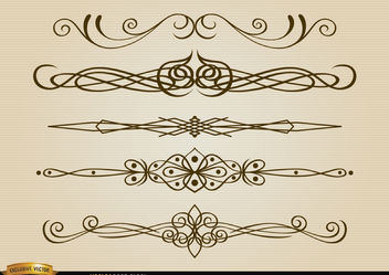 Thin stylish dividers set - Free vector #171657