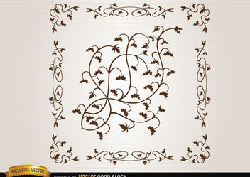 Leaves ornament - Free vector #171677