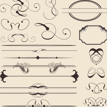 Calligraphic Decoration and Frame Pack - Free vector #171697