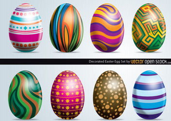 Easter Eggs Set - vector gratuit #171717