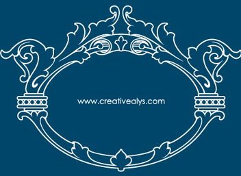 Beautiful Vintage Outline Ornamental Frame - Kostenloses vector #171727