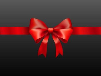 Glossy Photorealistic Present Ribbon - Kostenloses vector #171797