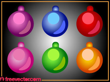 Christmas Ornamental Bright Ball Pack - бесплатный vector #171837