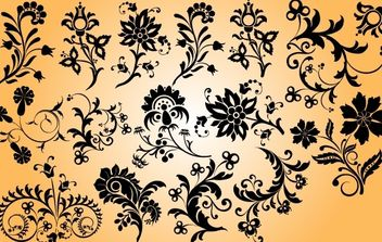 Mix Pack of Floral Ornament - Kostenloses vector #171877