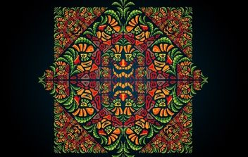 Psychedelic Aztec Style Ornament - Free vector #171967