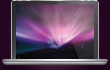 Glossy MacBook Air - vector gratuit #172007