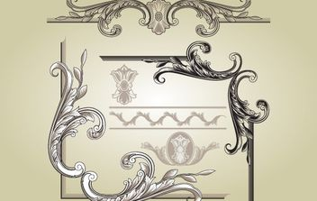 Marcos Vintage Ornament Shapes - vector #172047 gratis