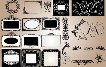 Grungy Vintage Frame and Ornament - vector gratuit #172057