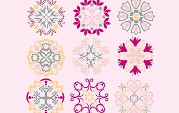 Simple Vintage Floral Shape - Free vector #172067