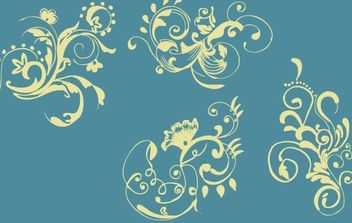 Hand Drawn Floral Ornaments Vector - Kostenloses vector #172157
