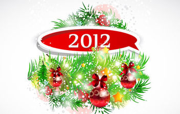 New Year 2012 1 - vector gratuit #172247