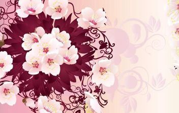 Free Rain Flowers Vector Graphic - Free vector #172337