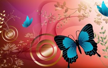Butterfly Graphics - vector gratuit #172367