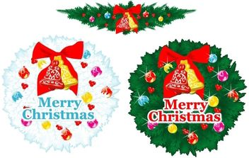 Xmas 01 Christmas Ornaments - vector gratuit #172467