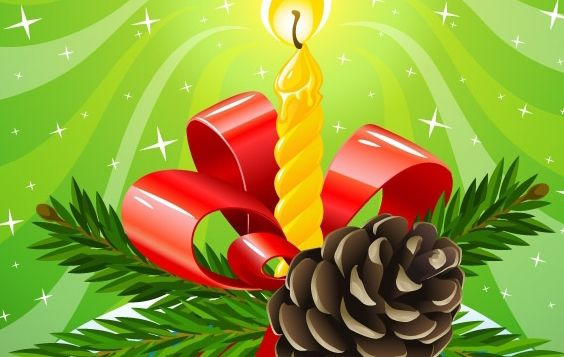 Christmas composition - Free vector #172477