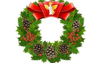 Christmas wreath - Free vector #172487