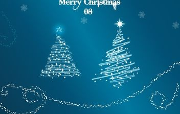 Xmas Tree 08 - Vector Trees with Snow - vector gratuit #172517