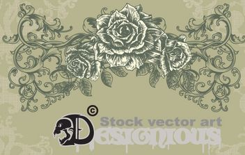 vintage floral illustration - vector gratuit #172637