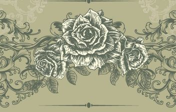 Free Floral Vintage Illustration - Free vector #172687