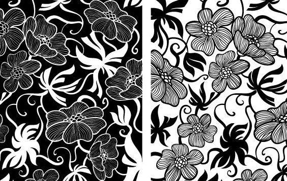 Vectores florales europeos Art Deco - vector #172707 gratis