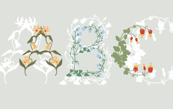 Flowers ABC - vector #172737 gratis