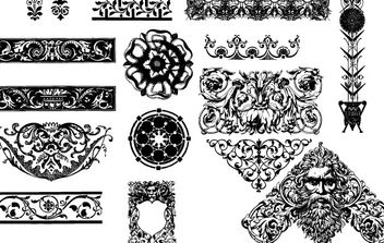 victorian ornaments - Free vector #172767