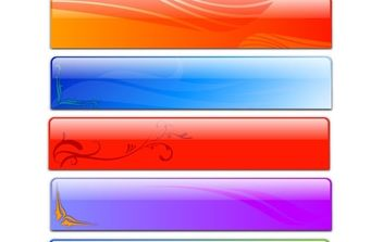 Free Vector Glass Header Designs - Fancy - Kostenloses vector #172847