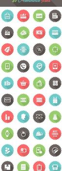 Minimal 40 Ecommerce Icon Circles - vector #172877 gratis