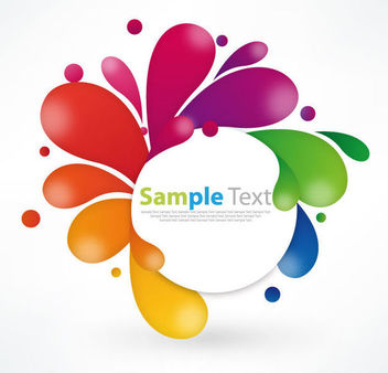 White Banner Wrapped by Colorful Swirls - Free vector #173087