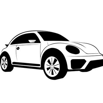 Hand Traced Black & White Volkswagen Dune Sketch - Free vector #173167