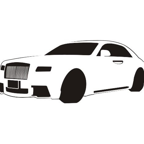 Black & White do traçado Rolls-Royce - Free vector #173217