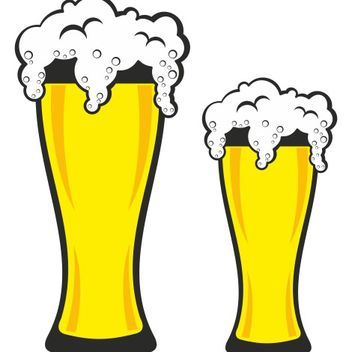 Couple of German Pint Beer Glasses - vector gratuit #173227