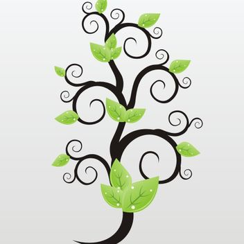 Green leaves vector - vector gratuit #173297