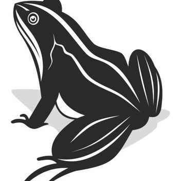 Black & White Comic Style Frog - Kostenloses vector #173307