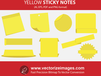 Sticky Notes and Banners with Wrinkles - vector #173427 gratis