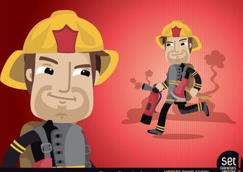 Fireman Cartoon Character - бесплатный vector #173437