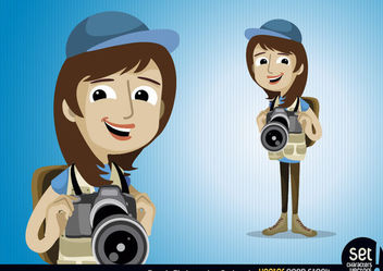 Female Photographer Character - vector gratuit #173447