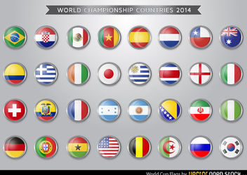 Brazil 2014 World Cup Flags - Free vector #173487