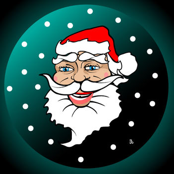 Funky Illustrated Santa Claus Face - vector gratuit #173627