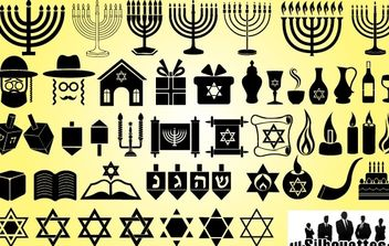 Symbol Pack for Happy Hanukkah - vector gratuit #173677