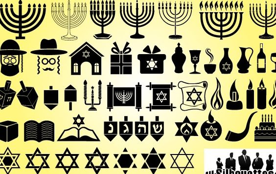 Symbol Pack for Happy Hanukkah - Free vector #173677