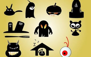 Halloween Funky Icon Set - vector gratuit #173727
