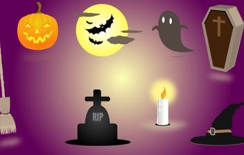 Scary Halloween Elements - Free vector #173737