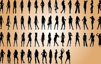 Sexy Fashion Model Silhouette Pack - Free vector #173747