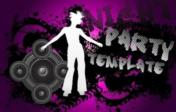 Grungy Black and White Musical Flyer - vector #173767 gratis