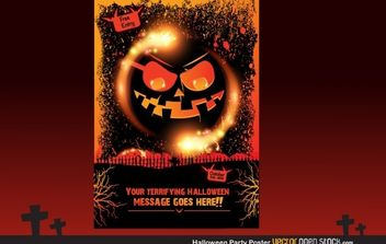 Halloween Party Poster - vector gratuit #173817