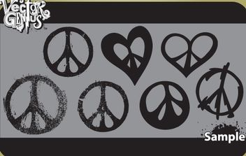 Vintage Peace Sign Pack - бесплатный vector #173947