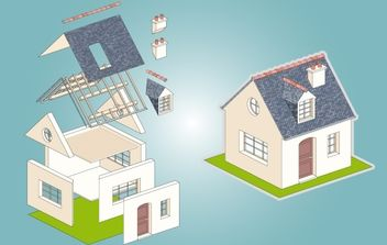 House with Extracted Part - бесплатный vector #174007
