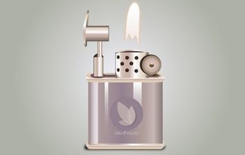 Icon Stylish Fired Lighter - Free vector #174057