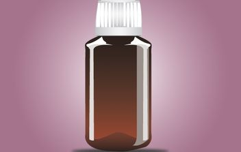 Glossy Medicine Bottle - Free vector #174097